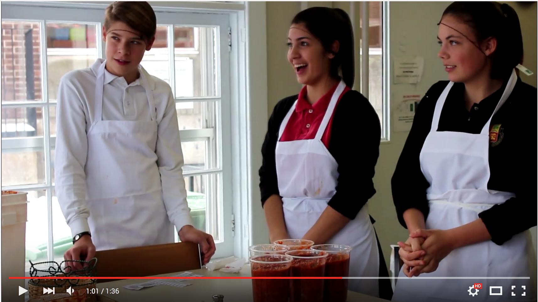 Vidéo-souvenir de la visite des élèves du séminaire de Sherbrooke